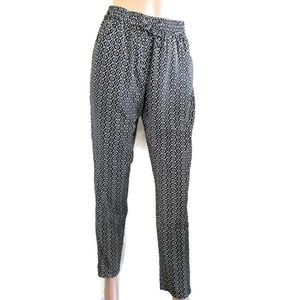 Pants - Woman's Beige And Black Light Weight Pants